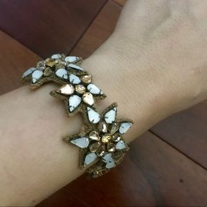 Beautiful Leather Bracelet with Beaded Flowers 🌸
